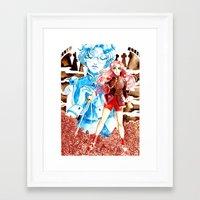 utena Framed Art Prints featuring Utena by Pia PB