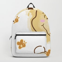 Inspired Pooh Bear surrounded with bees Backpack