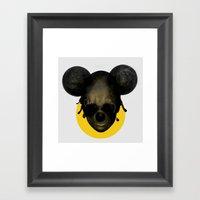 Weird Mickey Mouse Framed Art Print