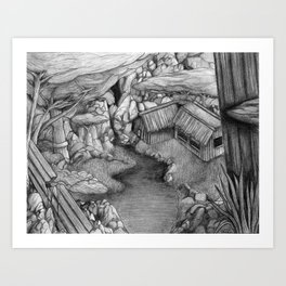 Within ancient ruins Art Print