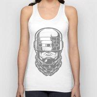 robocop Tank Tops featuring Hey, Robocop! by OneAppleInBox