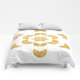 HEXAHEDRON CUBE sacred geometry Comforters