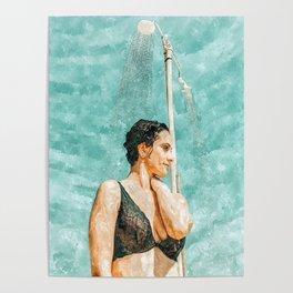 Bathe #painting #illustration Poster