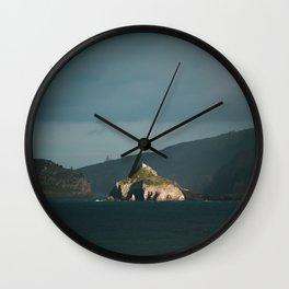 Green coastside Wall Clock