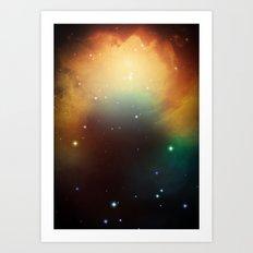 year3000 - Orange Space Art Print