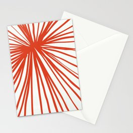Dandelions in Red by Friztin Stationery Cards