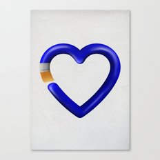 Love to paint Canvas Print