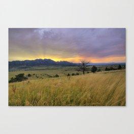 Sunset over the Flatirons Canvas Print