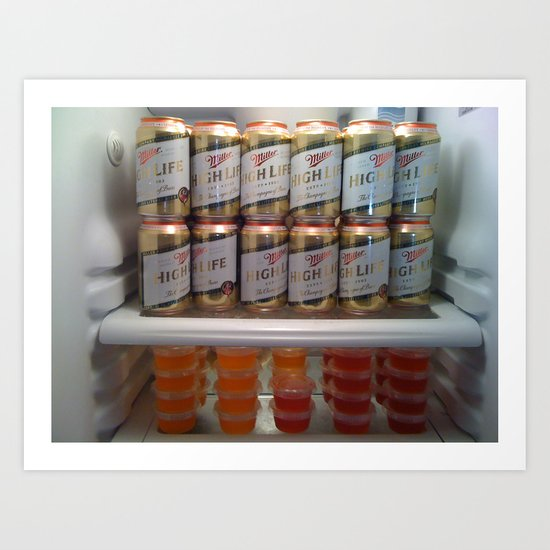 High Life & Jello Shots Art Print