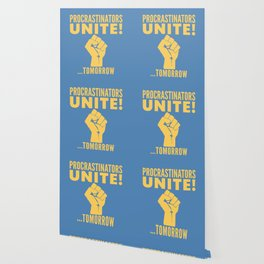 Procrastinators Unite Tomorrow (Blue) Wallpaper