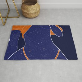 NEED SOME SPACE - Illustration, Space, Galaxy, Girl Rug