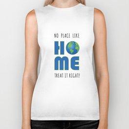 No Place Like Home Earth Day Biker Tank