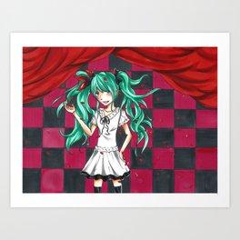 Hatsune Miku World is Mine Art Print