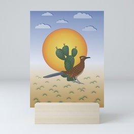 Soul of the Southwest - Roadrunner in the Desert Mini Art Print