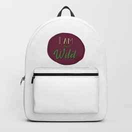"""I am wild,"" replied Grantaire. Backpack"