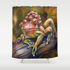 Three-Toed Frog Shower Curtain