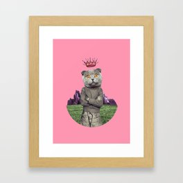 The king cat Framed Art Print