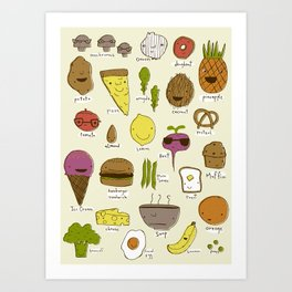 Food Friends Art Print