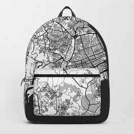 Santo Domingo Map Gray Backpack