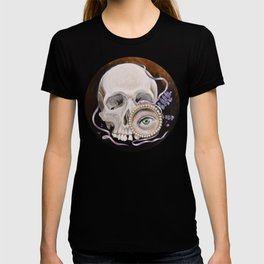 Stillife with skull, lavender and lovers eye T-shirt
