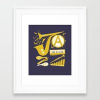 jazz Framed Art Prints featuring Jazz by Veronica S