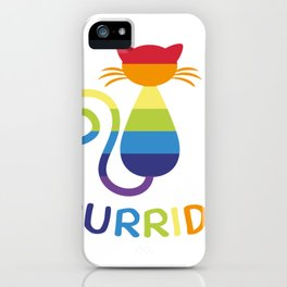 Pride Colorful LGBT Ca Rainbow Cat Lover Gift iPhone Case