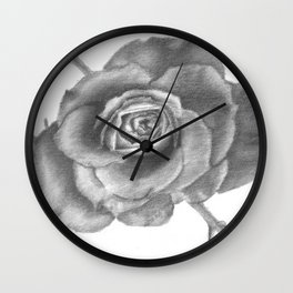 Charcoal Rose Wall Clock