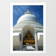 Buddhist temple near Galle, Sri Lanka Art Print