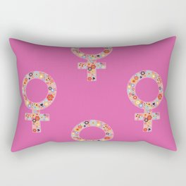 Fearless Female Pink Rectangular Pillow