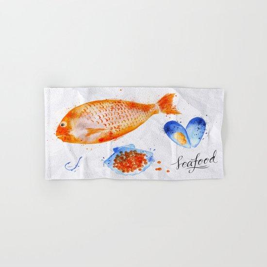 Fish Menu Hand & Bath Towel