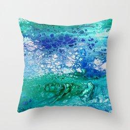 Colors of the Sea No.3 / acrylic pour art Throw Pillow