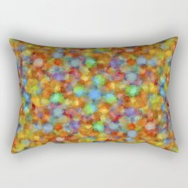 Abstract Watercolour Bubbly Pattern Rectangular Pillow