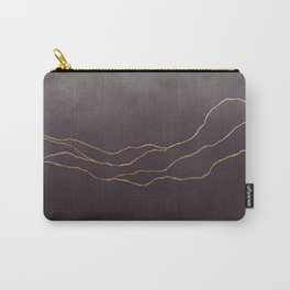 Ombre Eggplant & Gold Carry-All Pouch