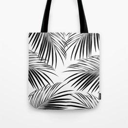 Black Palm Leaves Dream #2 #tropical #decor #art #society6 Tote Bag