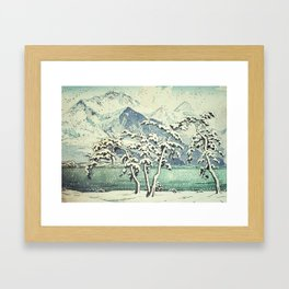 Seasonal Snow at Dara Framed Art Print
