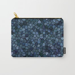 Blue Lagoon Midnight Rippled Water Abstract Carry-All Pouch