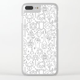 DnD Forever Clear iPhone Case