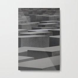 Berlin Memorial Grey Blocks Stone Metal Print