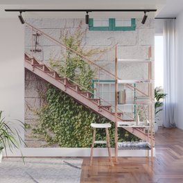 Stone House with Ivy Wall Wall Mural