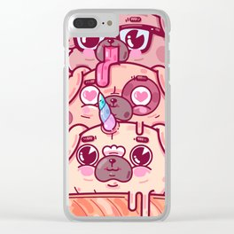 Pugs Cream Clear iPhone Case