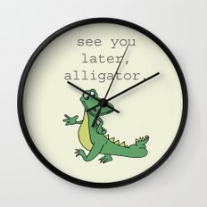 See you later, Alligator!  Wall Clock