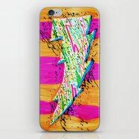 lightning iPhone & iPod Skins featuring Lightning by Hugo Diaz Romero