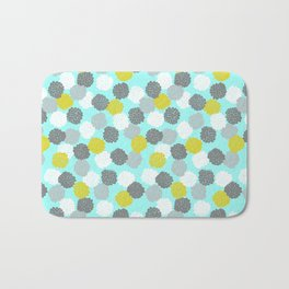 Block Printed Floral Bath Mat