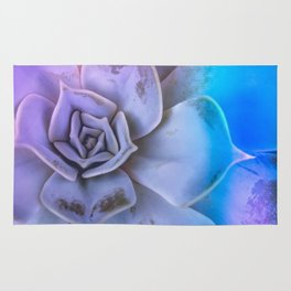 Echeveria in holographic lights Rug