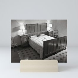 Bedroom with Antique Sardinian Charm Mini Art Print