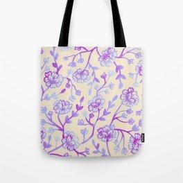 Watercolor Peonies - Peach Violet Tote Bag