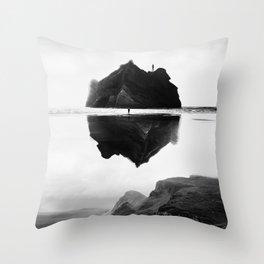 Black and White Isolation Island Throw Pillow