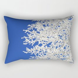 Frosty Tree Rectangular Pillow