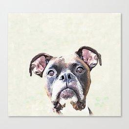 Brindle Boxer Dog Canvas Print