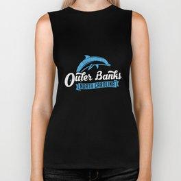 Outer Banks Dolphin TShirt, Outer Banks Beach Tee, NC Tee Biker Tank